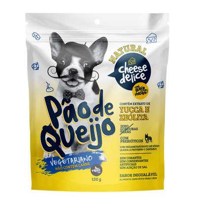 Petisco Pão de Queijo para Cachorro 120 gramas - Vegetariano