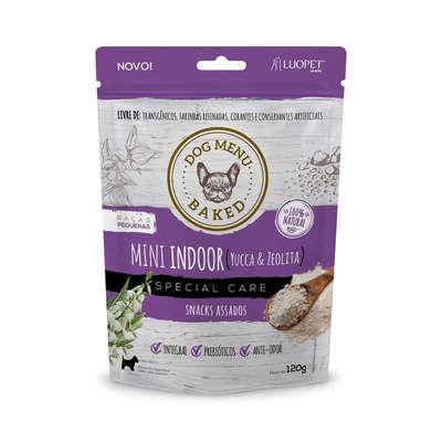 Petisco para cães Luopet dog menu Baked Mini Indoor - Yucca e Zeolita 120gramas