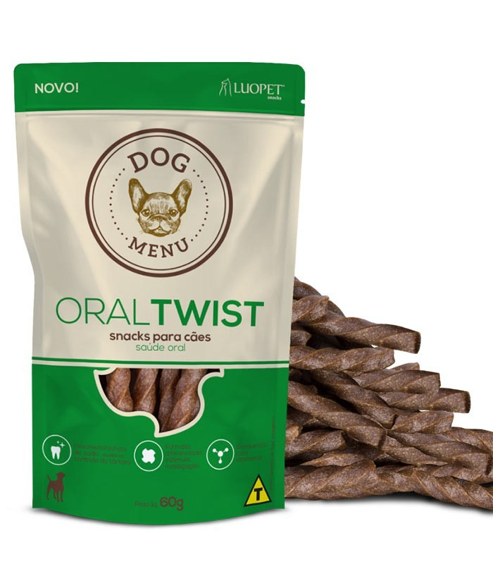 Petisco para cães - Oral Twist 60 gramas