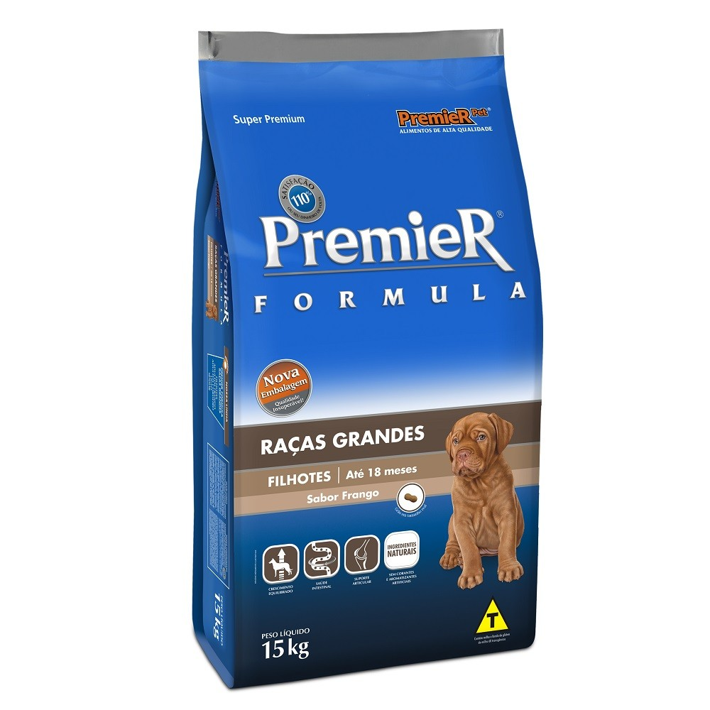 Premier Raças Grandes Cães Filhotes 15kg Frango
