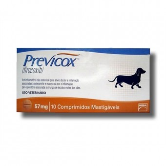 Previcox Dog 57mg 10comprimidos Mastigáveis