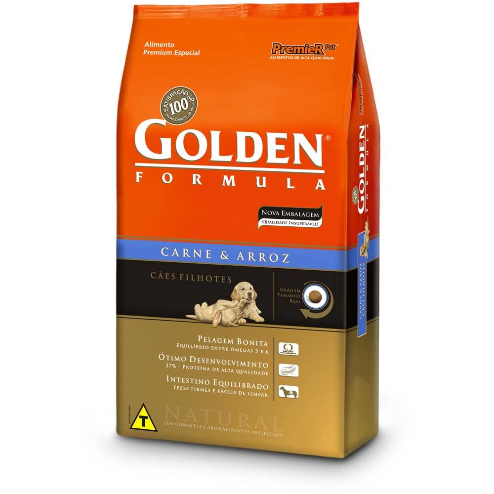 Ração Golden Filhote Raças grandes Carne 15kg