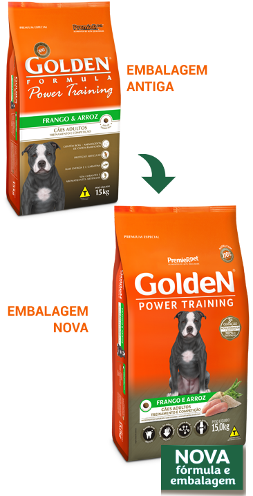 Ração Golden Power Training Adulto Frango 15kg