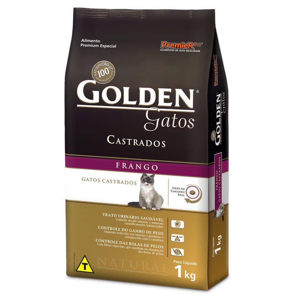 Ração para gatos castrados Golden sabor frango