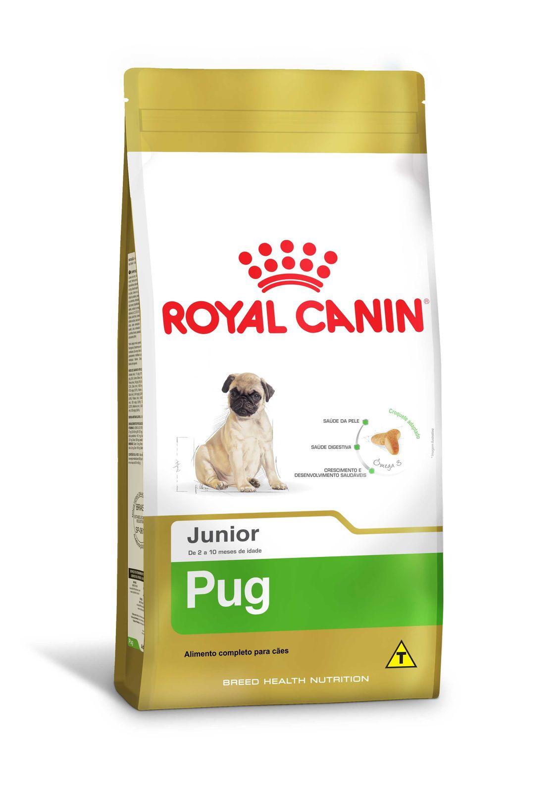 Ração para Pug Filhotes - Royal Canin Pug Junior