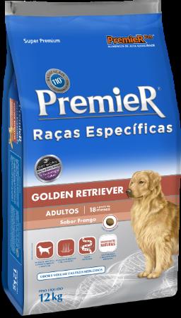 Ração Premier cães raça Golden Retriver adultos 12kg
