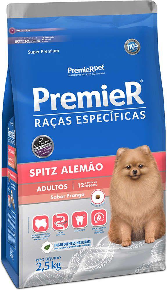 Ração Premier Cães Raças Específicas Spitz alemão adulto 2,5kg