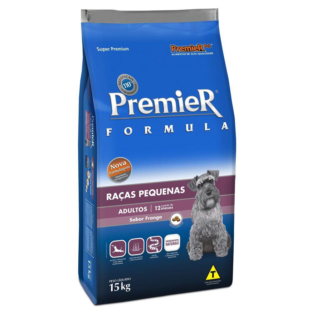 Ração premier formula adulto raças pequenas 15kg sabor frango