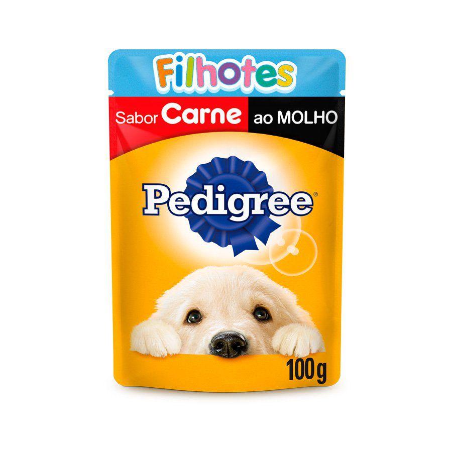 Ração úmida sache Pedigree Carne ao molho para filhotes 100 gramas