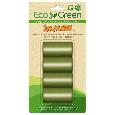 Refil Cata-Cata Jambo pet - 4 unidades  - Sacolinhas biodegradáveis