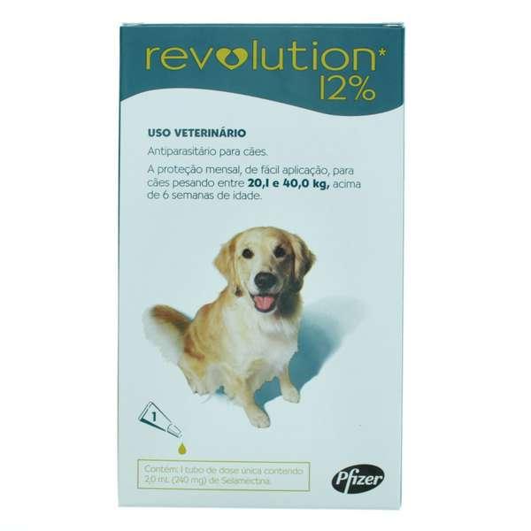 Revolution 12% - Para cães de 20,1 a 40,0kg
