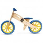 Bicicleta de Equilíbrio sem Pedal Lenho Azul