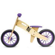 Bicicleta de Equilíbrio sem Pedal Wooden Roxa