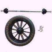 Kit Triciclo Qualquer Modelo Biciquetinha (02 Rodas + Eixo)