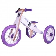 Triciclo 2 em 1 (vira bicicleta de Equilíbrio) NEVE ROXINHA - EDIÇÃO LIMITADA