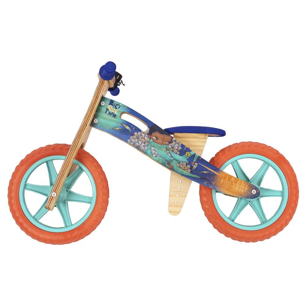 Bicicleta de Equilíbrio Grafite Biciquetinha Sonhar Ciano