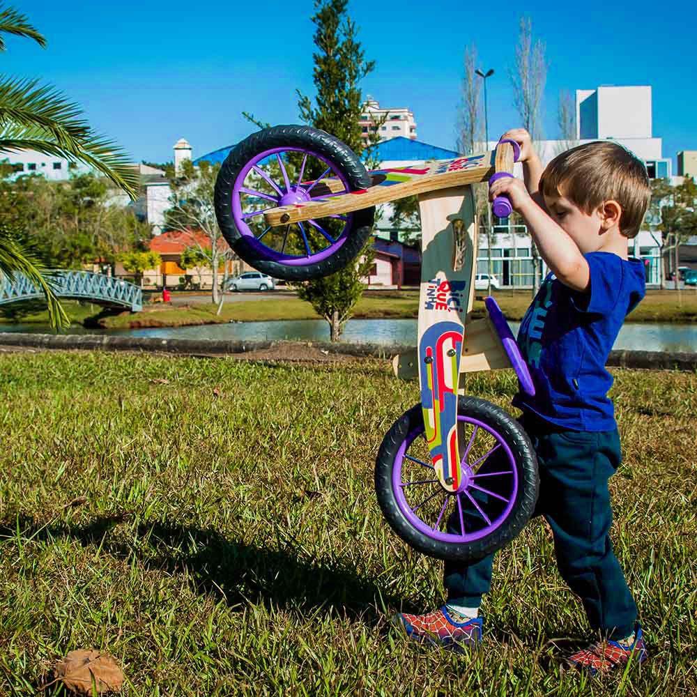 Bicicleta de Equilíbrio Coloridinha Biciquetinha