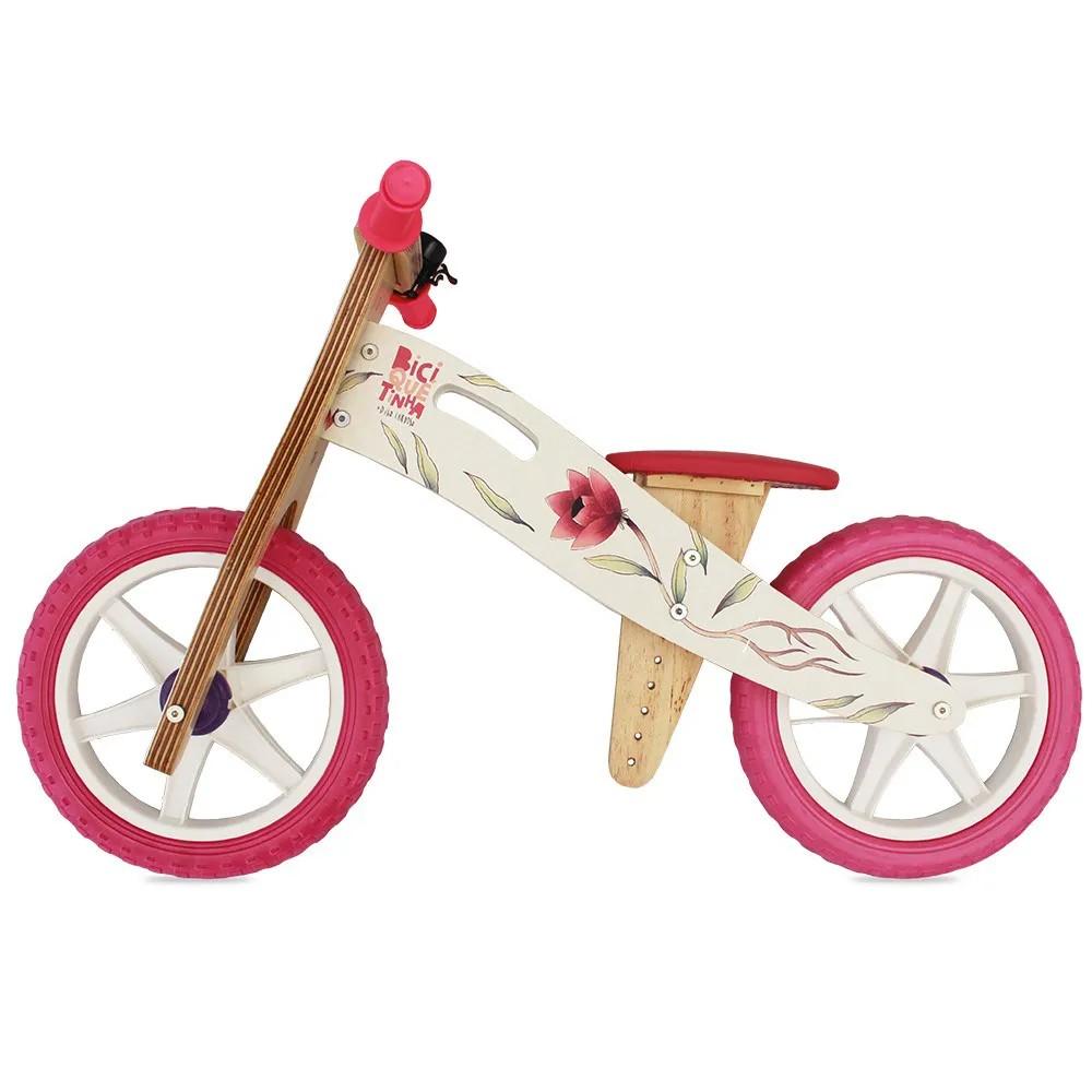 Bicicleta de Equilíbrio sem Pedal DIGO + BICIQUETINHA FLORES