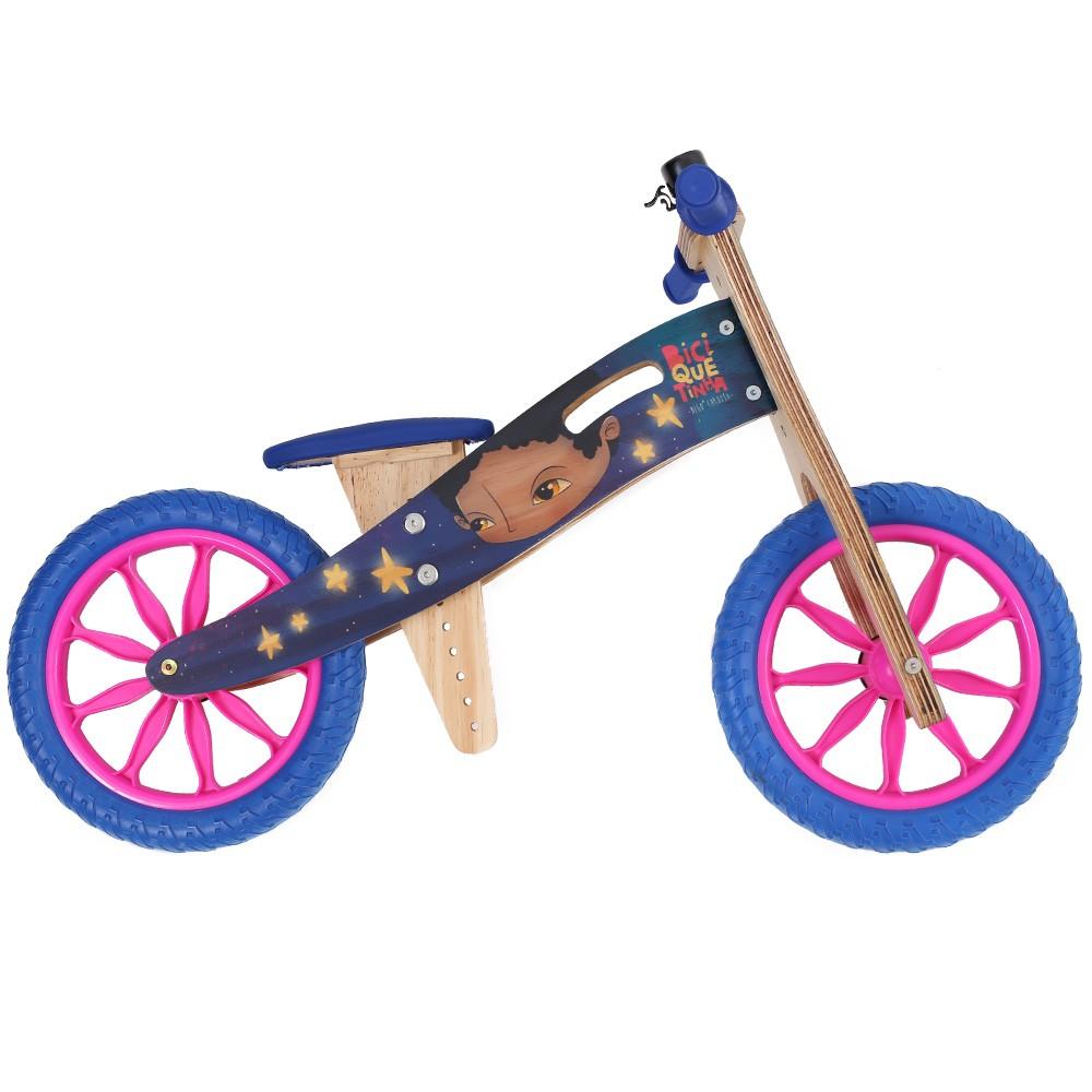 Bicicleta de Equilíbrio sem Pedal DIGO CARDOSO + BICIQUETINHA Vice-Versa Azul