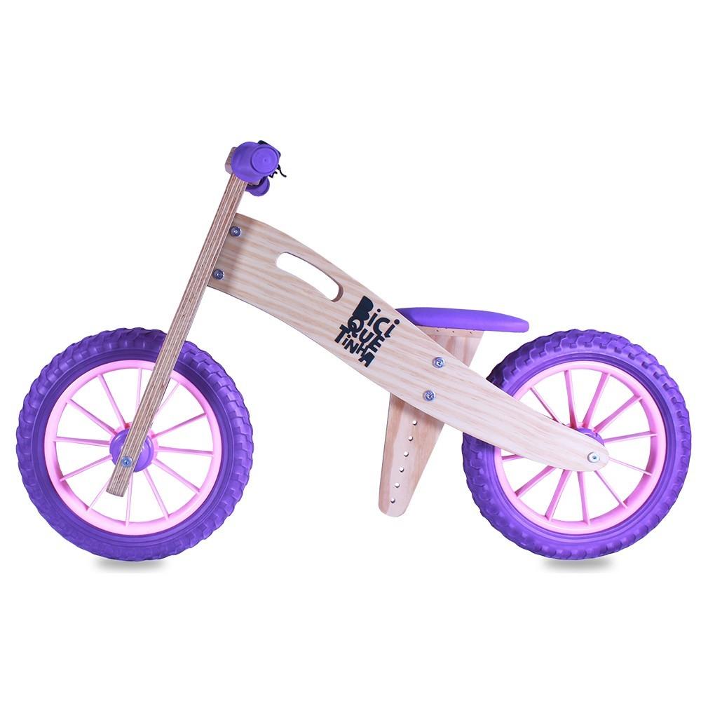 Bicicleta de Equilíbrio Lenho Roxo Rosinha - Ed. Limitada
