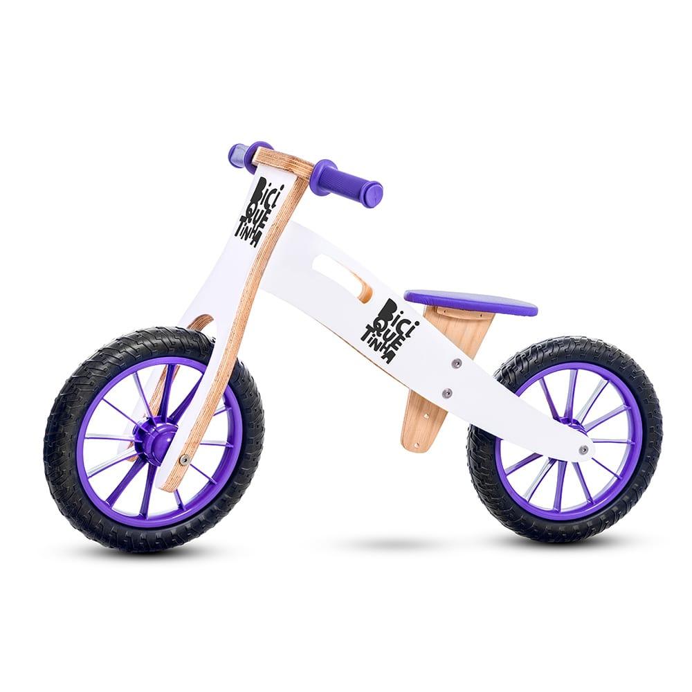 Bicicleta de Equilíbrio sem Pedal NEVE ROXA