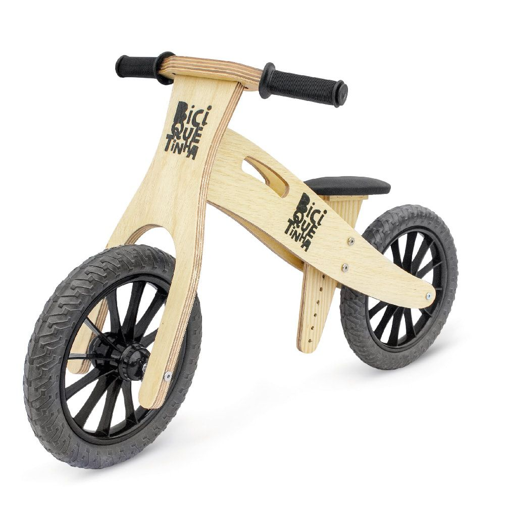 Bicicleta de Equilíbrio sem Pedal Wooden Preta
