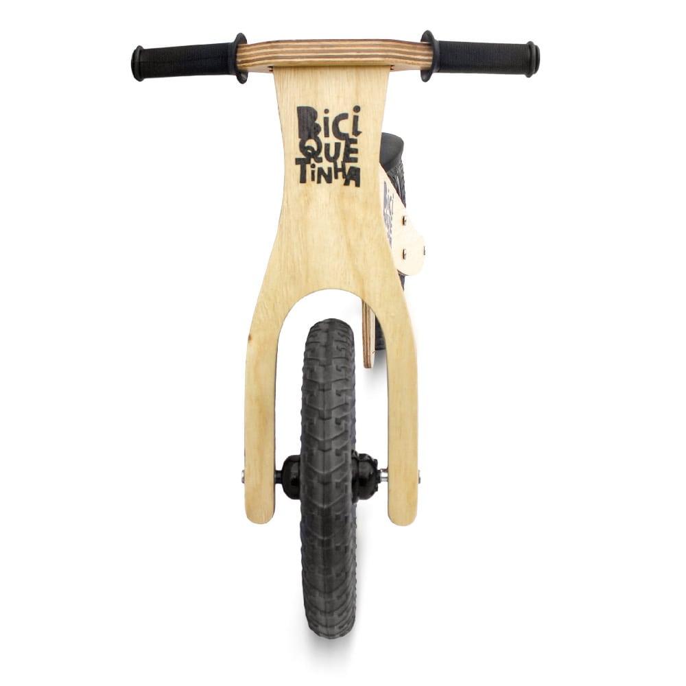 Bicicleta de Equilíbrio sem Pedal Lenho Preta