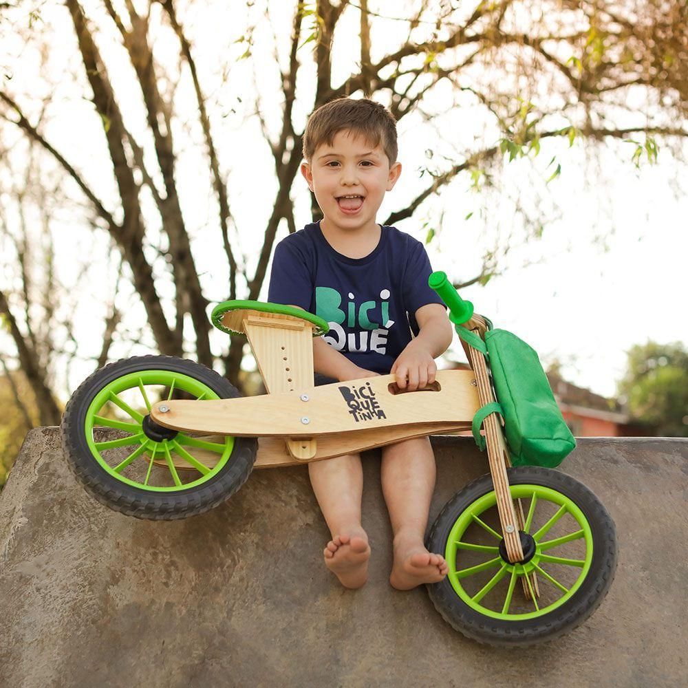Bicicleta de Equilíbrio Biciquetinha Lenho Verde