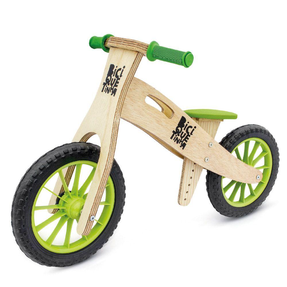 Bicicleta de Equilíbrio sem Pedal Wooden Verde