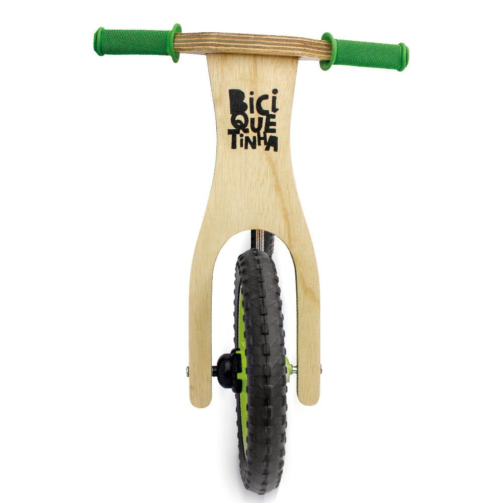 Bicicleta de Equilíbrio sem Pedal Lenho Verde