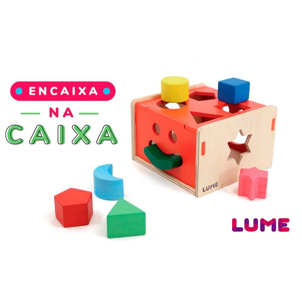 Brinquedo de encaixar Encaixa na Caixa Lume