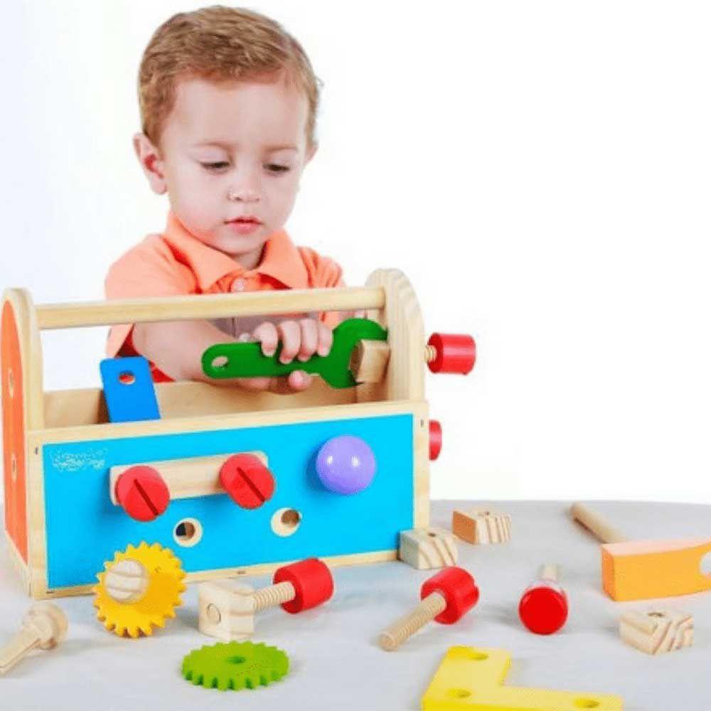 Caixa De Ferramentas Infantil Gire e Crie