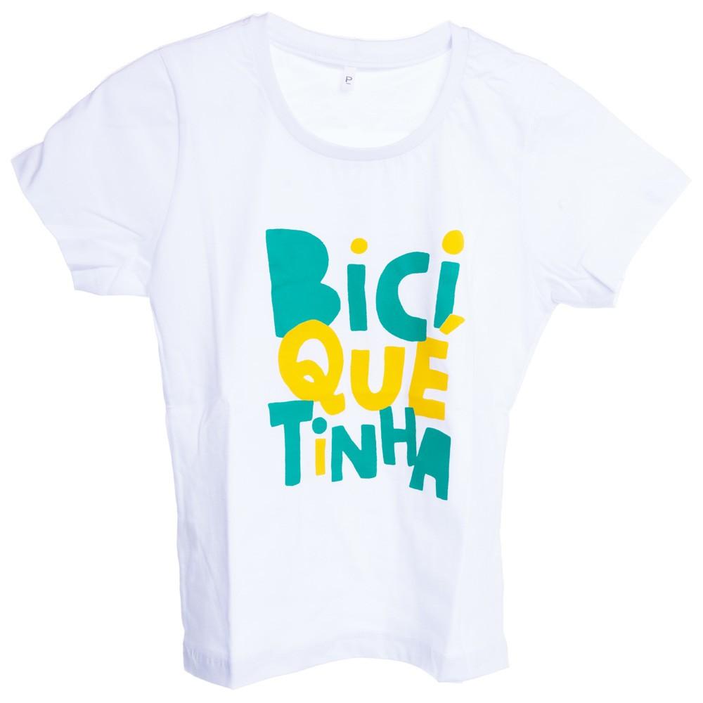 b041ad6e9 Camiseta Baby Look Feminina 100% Algodão BiciQuetinha