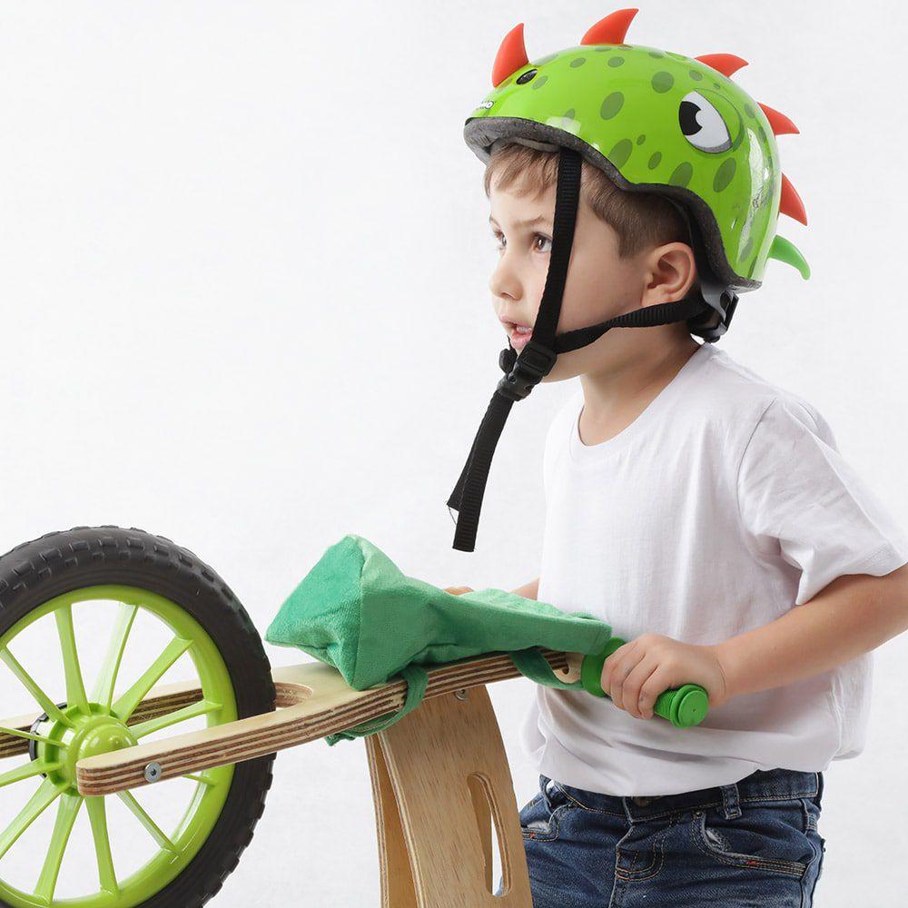 Capacete Infantil Balance Bike ou Bicicleta Dinossauro Kidzamo