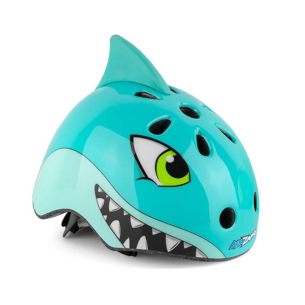 Capacete Infantil Balance Bike Ciclismo Tubarão Kidzamo