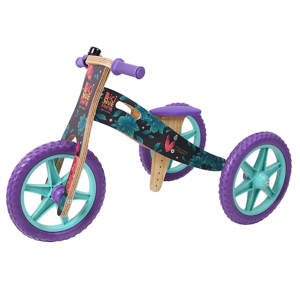 Triciclo 2 em 1 Digo Cardoso + Biciquetinha Mar de Possibilidades