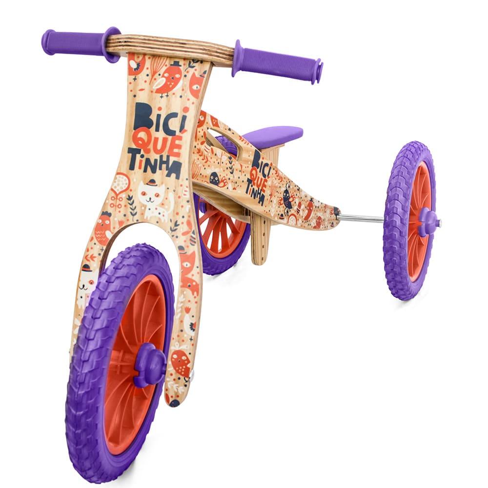 Triciclo 2 em 1 (vira bicicleta de Equilíbrio) ANIMAIS