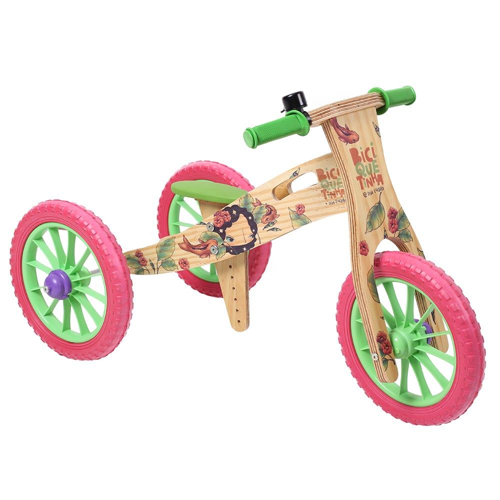 Triciclo 2 em 1 Grafite Biciquetinha Imaginação