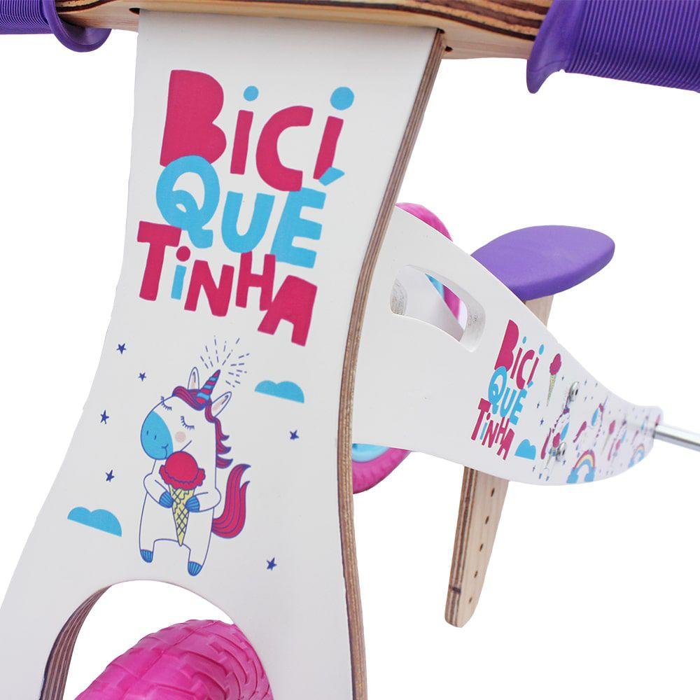Triciclo 2 em 1 (vira bicicleta de Equilíbrio) UNICÓRNIO Rosa Azul