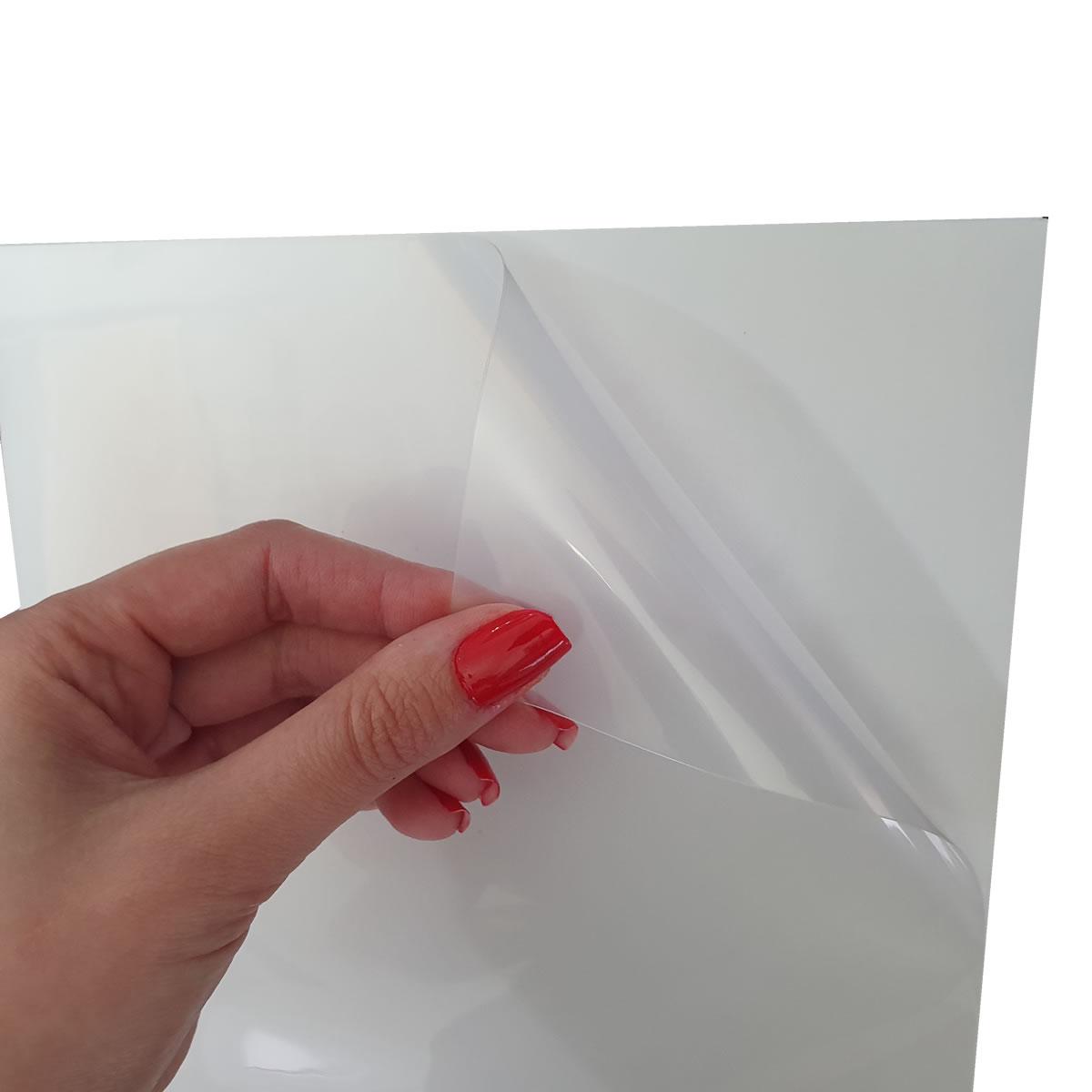 100 Adesivos Vinil Transparentes Impressoras Jato De Tinta A4