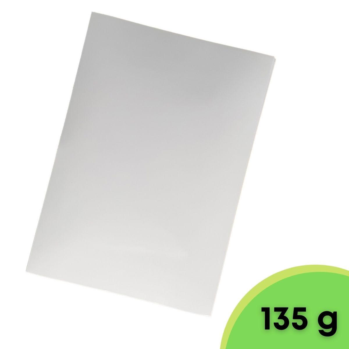 100 Folhas A4 Papel Adesivo fotografico 135g Para Jato De Tinta