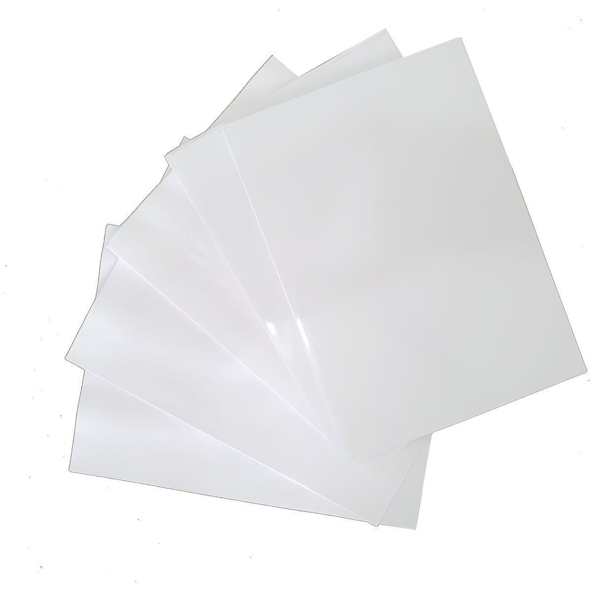 100 folhas Papel adesivo Branco 135g A4 Fotografico Glossy Evolut