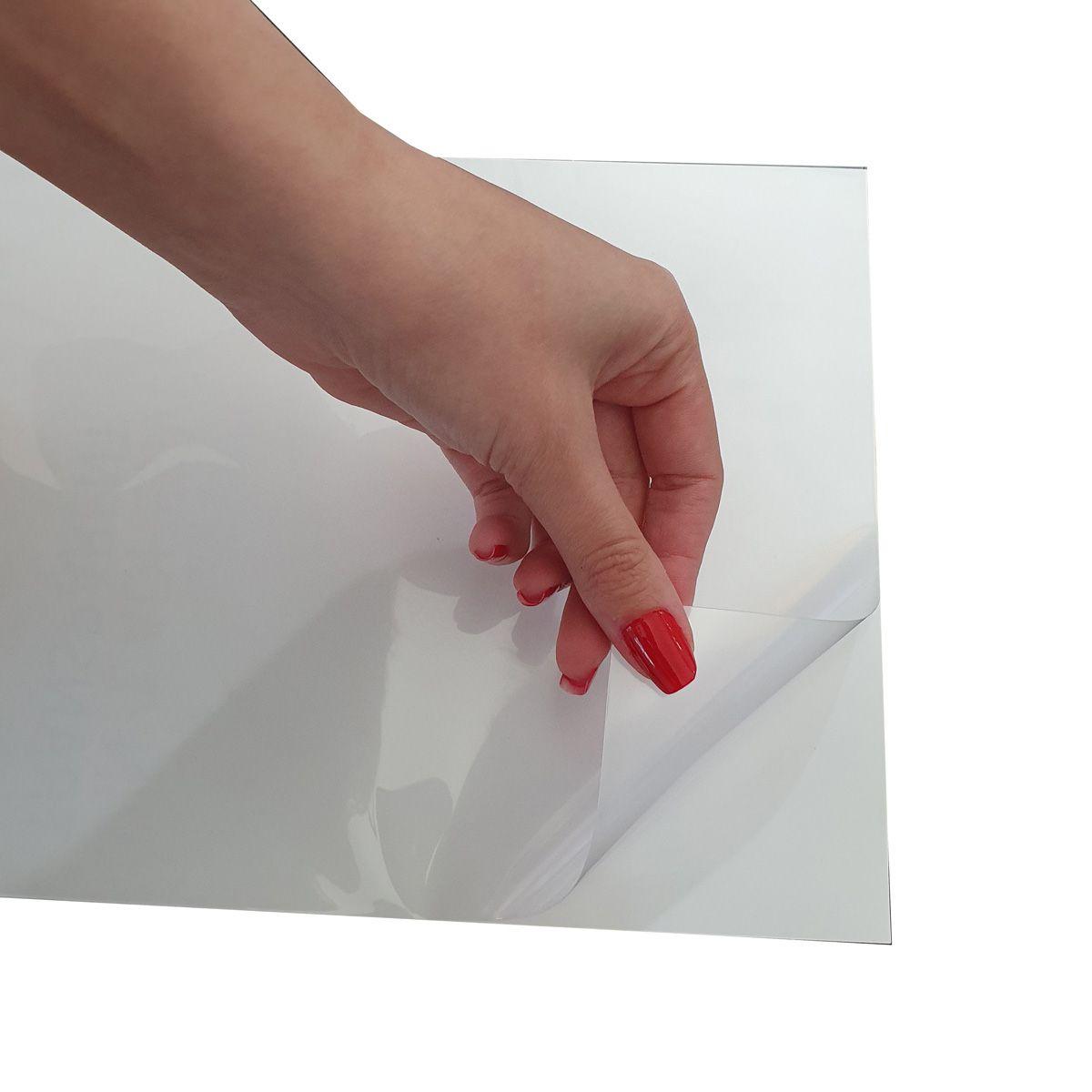 100 Folhas Papel Adesivo Vinil Branco para Jato de Tinta Inkjet 135g 20fls Evolut
