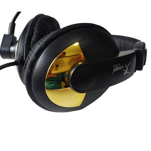 Kit 4 Fones De Ouvido Headset Com Mic Preto E Dourado Knup