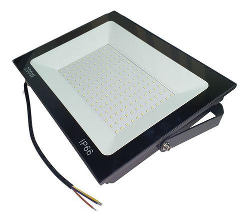 Refletor Led 200w SMD Holofote Bivolt Prova Água Ip66 Luz Branca