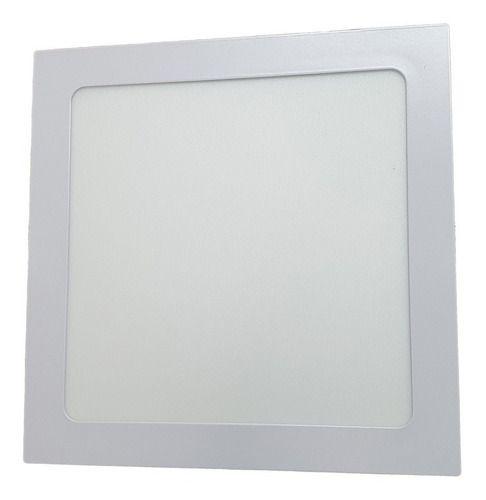 Painel Plafon LED 18w Quadrado Luminaria Embutir Branca Luz Fria