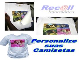 Papel 140gr Transfer A4 10 folhas para Camisetas Tecido de cores claras