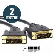 Cabo DVI-D x DVI-D Dual Link para monitor e projetor