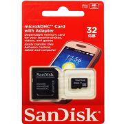 Cartão de Memória Micro SD 32GB 32 GB Sandisk para Galaxy tab tablet Celular