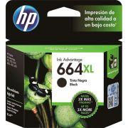Cartucho HP 664XL Preto para 1115 2136 3636 3836 4536 4676